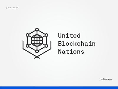 """UBN"" —Concept of identity web globe nations united crypro blockchain"