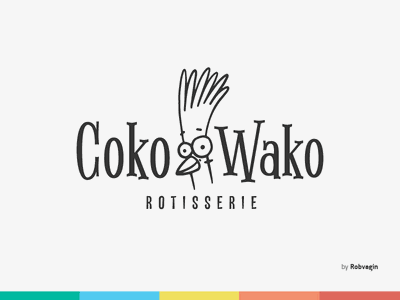 """CokoWako"" — Identity for Rotisserie odessa ratio golden horeca chicken chick food fast rotisserie"