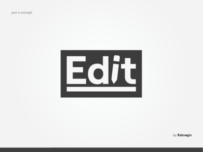 """Edit"" — Concept of the logo"