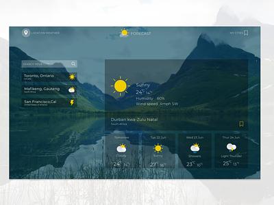 Forecast Weather App website ux ui branding design illustration app web e commerce web design