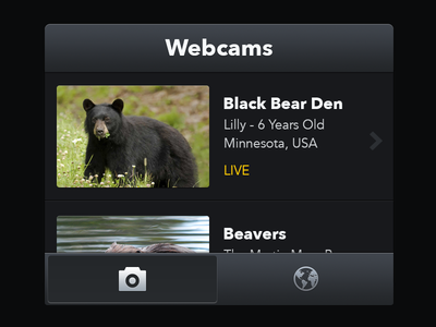 Wildlife Webcam App