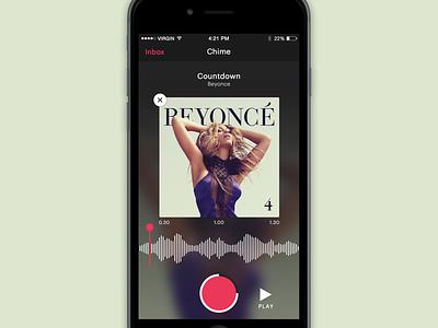 Music Snippet App dark blur app music audio iphone ios