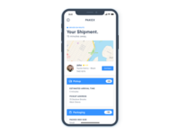 Shipment Info Screen - iPhone X