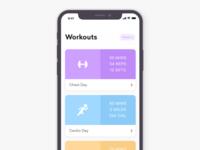 Workout App - iPhone X