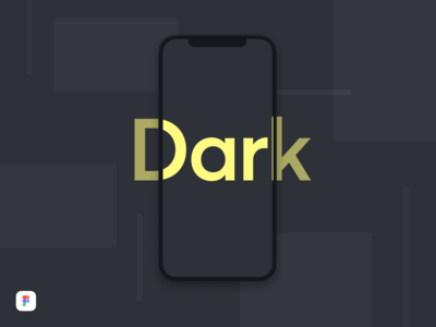 iPhone X Dark Mockup - Figma Download