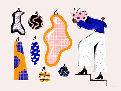 🖼 illustration figure human person steps hanging art