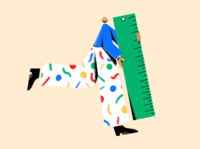 Ruler Dude human color illustrator abstract 2d drawing stationery ruler figure person illustration