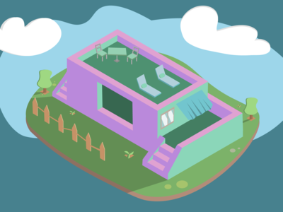 Cute Isometric House