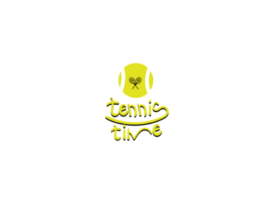 Tennis Time Lettering logo type thing