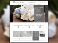 Boll & Branch Homepage