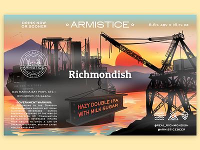 Richmondish x Armistice Hazy IPA beercan ipa branding east bay richmond beerlabel beerbranding beer