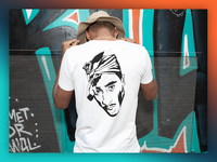 2pac Illustration T-shirt design