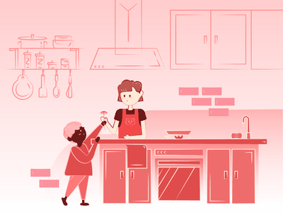 Mother s Day pink illustration