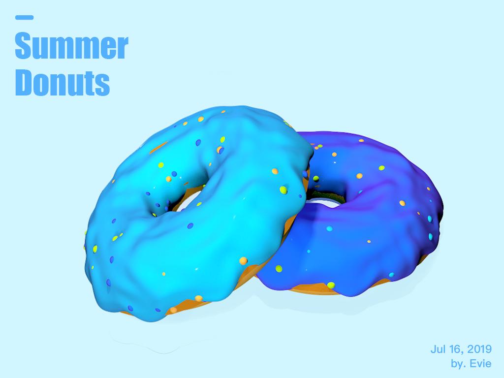 Summer Donuts donuts summer illustration c4d