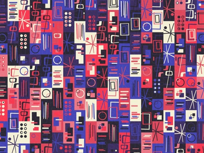 SigloXX illustration geometry geometric vector digital art mid-century retro pattern design pattern generative estampa