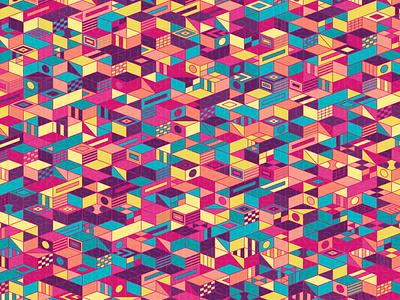 LevelUp repeating illustration geometry geometric vector digital art pattern design pattern generative estampa