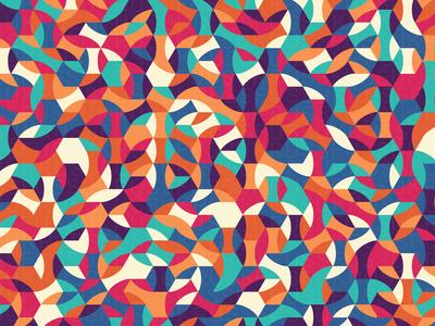 'Charm' Pattern vector hexagon digital art estampa generative pattern design geometric geometry repeating pattern