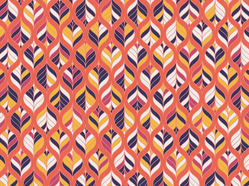 'August' Pattern leaf fall autumn illustration repeating vector digital art pattern design pattern geometry geometric generative estampa