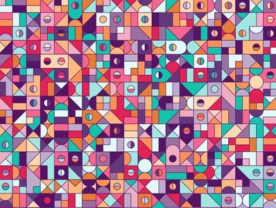 'Play' children toddler repeating illustration vector geometry geometric digital art pattern design pattern generative estampa