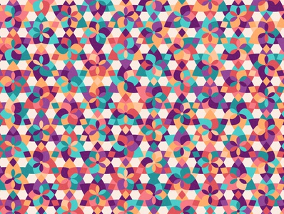 'Caboodle' repeating illustration vector geometry geometric floral digital art pattern design pattern generative estampa