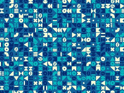 'Glyph' repeating illustration vector geometry geometric digital art pattern design pattern generative estampa