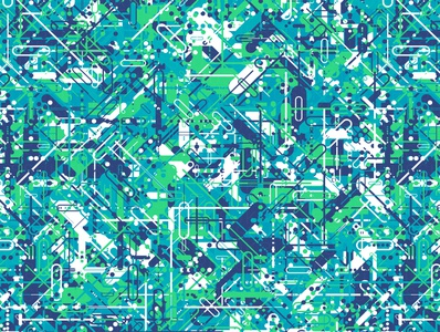 'Transistor' Pattern repeating illustration vector geometry geometric digital art pattern design pattern generative estampa