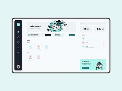 Cloud Label   UI Snapshot reactjs nextjs simple green teal tailwindcss design ux design ui design ui  ux labelling print cloud app minimalism minimalist