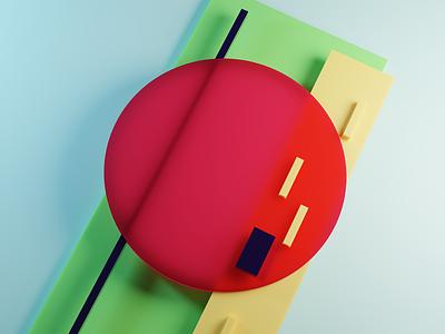 Red Signal minimalist blender 3d art abstract art digital art art design wallpaper