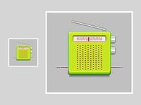 Lime Green Radio