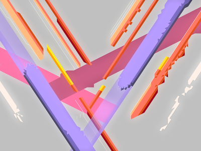 Shatter line art hexels vector illustration design abstract flat minimal wallpaper