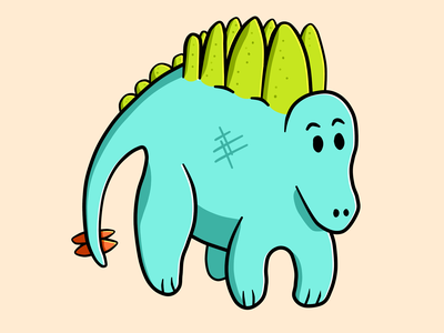 Steggy character characterdesign cartoon green blue drawing art illustration