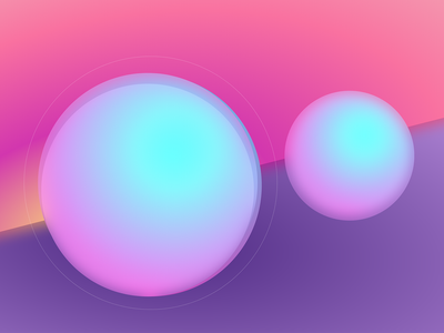 Pearl Gloss circles gradients minimal desktop vector design art wallpaper illustration