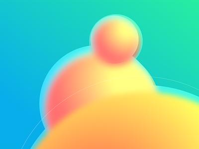 Molecules spheres gradients abstract desktop vector design art wallpaper illustration