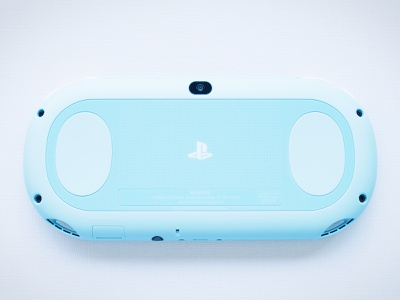 Blue PS Vita blue playstation video games gaming photography productshot products design