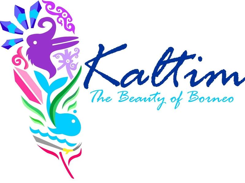 east borneo tourism icon fun corel logo typography design
