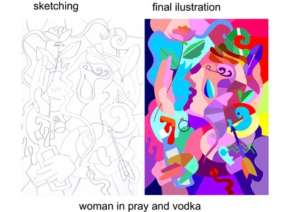 Woman in Pray and Vodka