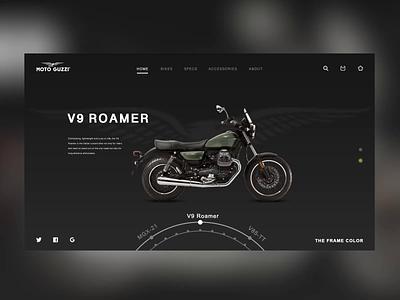 motorcycle-MOTO GUZZI 颜色 icon moto guz zi ux animation 动态 暗色 motorbike vector design