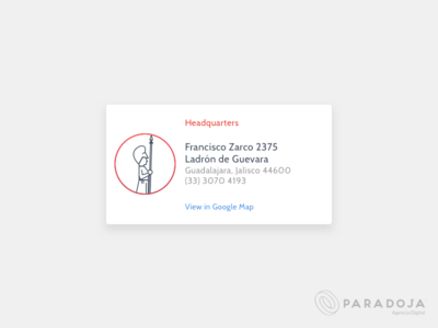 Headquarters - Paradoja paradoja headquarters address card