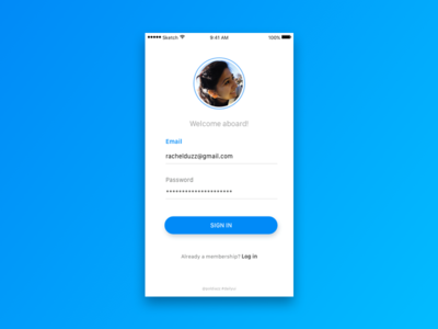 Sign Up - Daily UI #001 mobile app sign in sign up sketch dailyui