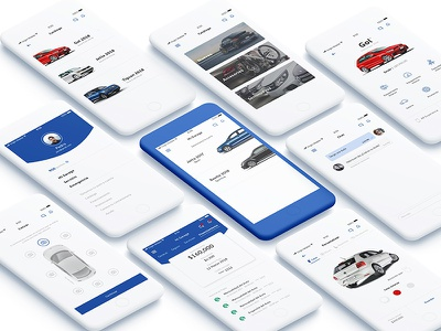 Car App Concept iphone ios app car