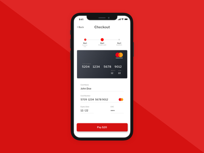 Daily UI Challenge #002 Credit Card Checkout card credit pay checkout ios mobile virgin