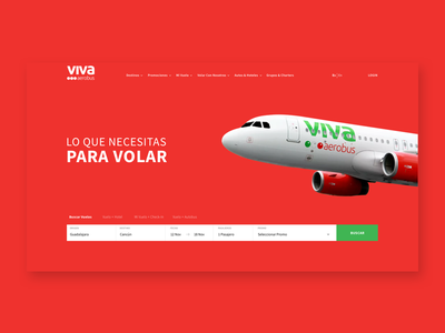 Daily UI Challenge #003 Landing Page (above the fold) mexico aerobus viva plane airline landing ui daily