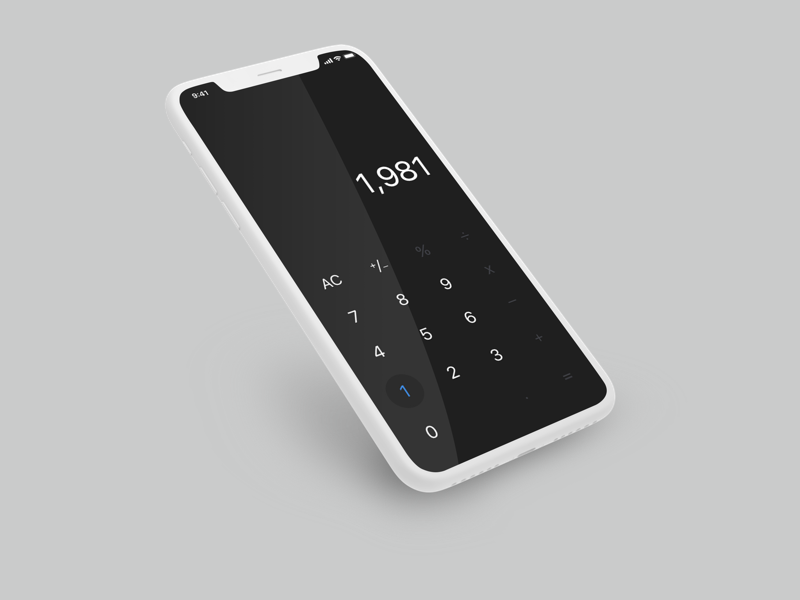 Daily UI Challenge #004 Calculator ui daily challenge iphone x calculator