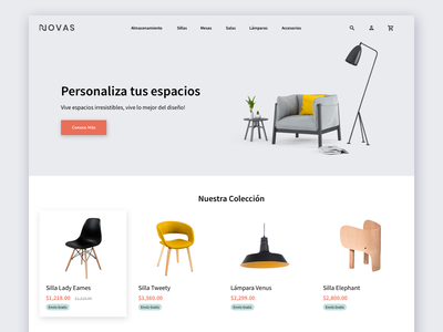 Furniture eCommerce Concept furniture ecommerce shop ecommerce landing