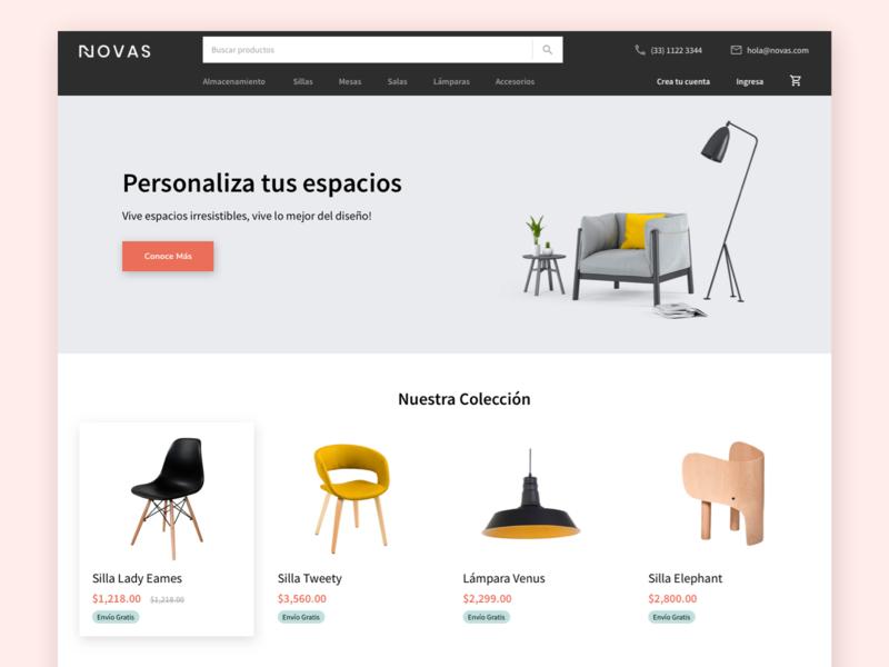 Furniture eCommerce Concept - Menu Exploration ecommerce design desktop shop ecommerce furniture store furniture