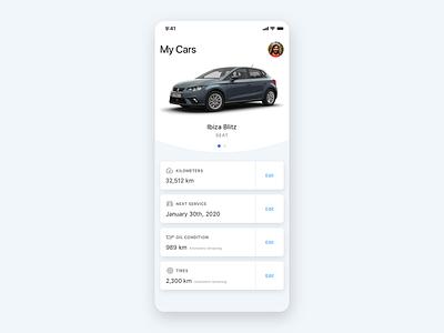 Car Management App Concept design app management car ios