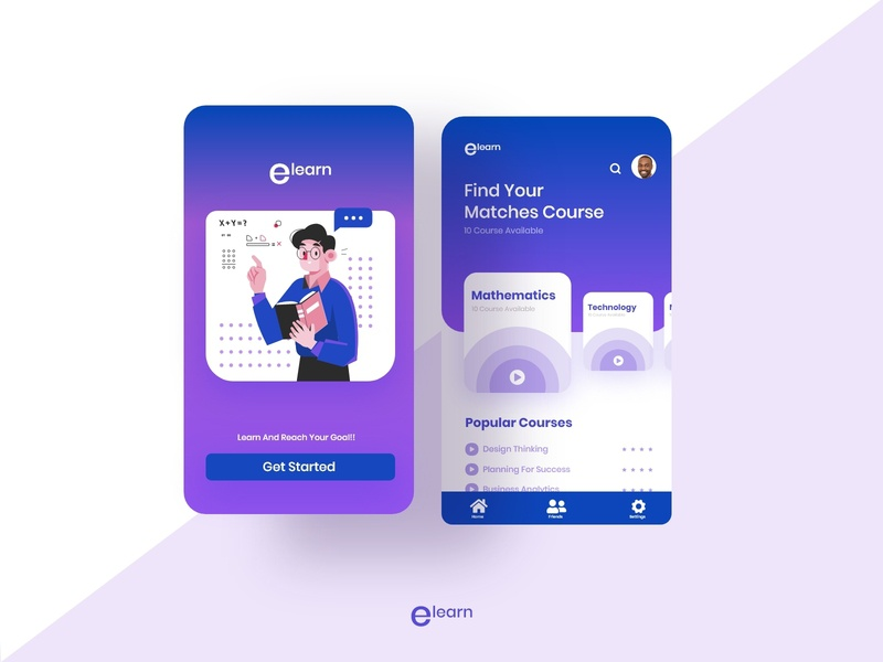 Learning Platform Mobile App logo learn learning typogaphy icon uiuxdesign uidesigns class student uidesign education uiux dribble shot design