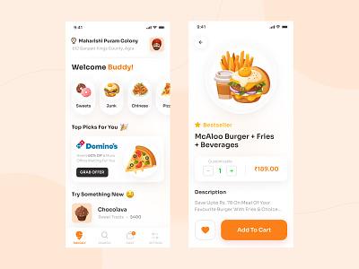 Food Delivery App 🍔 delivery app food food app product app uxdesign ios chefapp tracking app trends clean minimal design restaurant app branding ui uiux uidesign