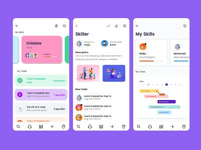 Gesto Life Manager App ux illustration app design strap ui clean ui amptus branding task manager task design