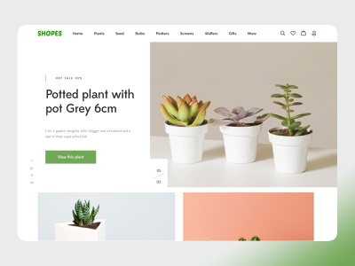 Plants Themes ui strap branding ux amptus online shopping online shop ecommerce plants clean ui design